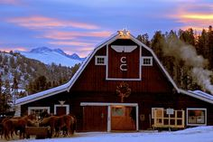I'll take the barn, the setting and the sunset....