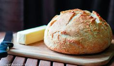 A delicious recipe for homemade crusty bread that uses a dutch oven to create a perfect crust. Perfect for grilled cheese sandwiches, toast or plain.