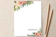 Posey Blush Personalized Stationery by Lawren Usse | Minted.com - Great website for custom stationery.