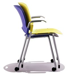Lightweight, mobile Caper Stacking Chairs go wherever you need casual, short-term seating. When not in use, they stack conveniently on the floor or a Caper Cart. Cheap Adirondack Chairs, Comfortable Office Chair, White Dining Chairs, Stacking Chairs, Office Set, Contemporary Office, Office Equipment, Office Furniture, Office Chairs