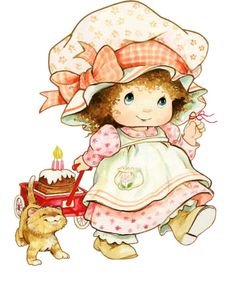 By Ruth Morehead (Looks Like Strawberry Shortcake) Vintage Clipart, Cute Kids, Cute Babies, Strawberry Shortcake Characters, Sarah Key, Baby Images, Holly Hobbie, Digi Stamps, Illustrations