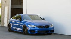 Blue 4-series 2014 BMW 435i F32 2 door coupe 1920×1080 HD
