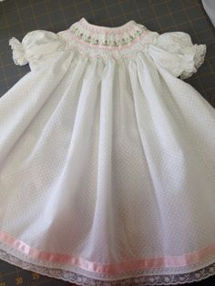 Your place to buy and sell all things handmade Most Beautiful Dresses, Sash Belts, Heirloom Sewing, Kids Wear, Smocking, Kids Fashion, Flower Girl Dresses, Baby, How To Wear