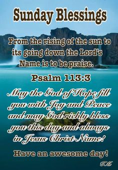 Psalms, Blessings, Encouragement, Blessed, Sunday, Lord, Names, Domingo