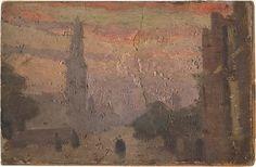 November, Manchester, England, United Kingdom, 1912, by Adolphe Valette.