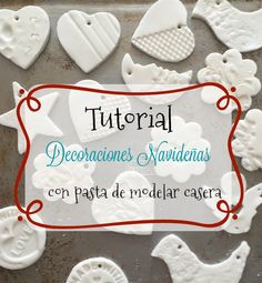 Tutorial: Christmas decorations with homemade playdough Diy Clay, Clay Crafts, Clay Christmas Decorations, Christmas Ornaments, Christmas Clay, Diy Crafts For Kids, Fun Crafts, Arte Pallet, Pinterest Christmas Crafts