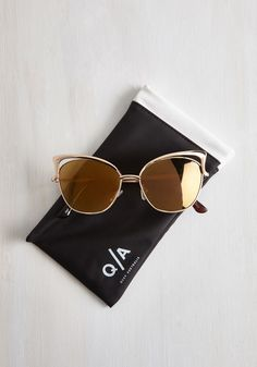 Lana del Sunrays Sunglasses. Who knew that UV protection could look so sophisticated? #gold #modcloth $50