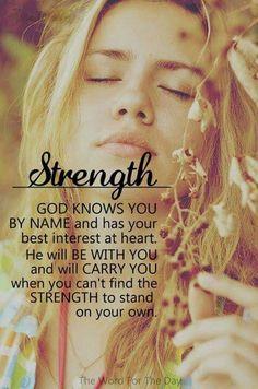 God's strength.