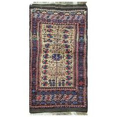 Unique Belouch Rug | From a unique collection of antique and modern central asian rugs at https://www.1stdibs.com/furniture/rugs-carpets/central-asian-rugs/