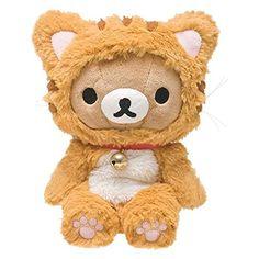 Rilakkuma Fuzzy Cat Suit Plushie | リラックマ あつめておすわりぬいぐるみ