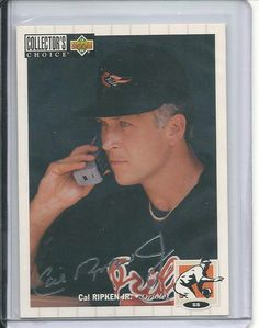 1994 cal ripken jr upper deck collectors choice silver signature card #240