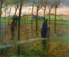 Antonín Slavíček - Rainy Evening, 1902