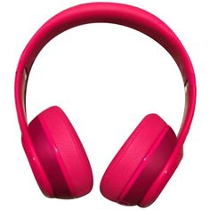 Pre-owned Beats Solo2 ($121) ❤ liked on Polyvore featuring accessories and glossy hot pink