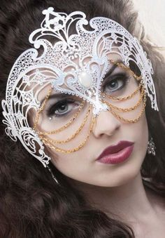 Hidden Empress Mask.....@Lisa Goeke I love that this is white and gold to match taj