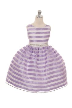 Adelle Lynne Striped Flower Girl Dress