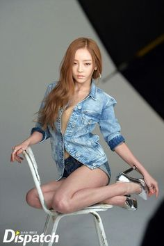 Hara posing in a photo shoot for CéCi Magazine May Issue 2015.