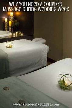 #ad Wedding week is so chaotic. A couple's massage is the exact pause you need. Get more details at www.abrideonabudget.com. #westinhhi