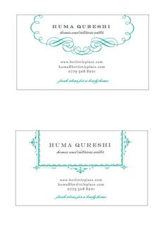 Huma Qureshi Business Card