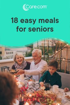 18 quick, easy and healthy meals for seniors If you're concerned you or the senior in your life isn't getting enough nutrition, there may be a number of reasons. Check out these 18 easy, tasty and healthy meal ideas for seniors. Quick Easy Healthy Meals, Easy Freezer Meals, Healthy Menu, Healthy Cooking, Freezer Cooking, Nutritious Meals, Easy Meal Plans, Aging Parents, Cocktails