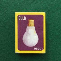Nice bulb add on an indian matchbox.