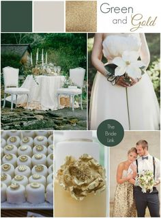 Green and Gold Wedding Inspiration