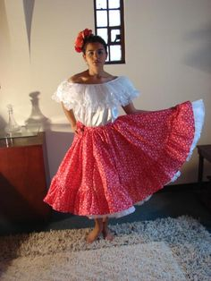 Colombia-Barranquilla-Puerta de Oro Puerto Ricans, Fancy Dress, Halloween Costumes, Barbie, Sewing, Crochet, Skirts, Colonial, Outfits