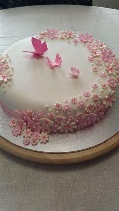Baptism cake for girls