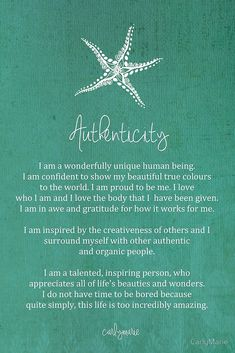 Affirmation - Authenticity by CarlyMarie. Thanks be to God