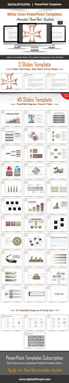 Impress and Engage your audience with White Cross PowerPoint Template and White Cross PowerPoint Backgrounds from DigitalOfficePro. Each template comes with a set of PowerPoint Diagrams, Charts & Shapes and are available for instant download.