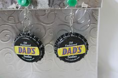Old Fashioned Dads Sodas Upcycled Bottlecap Earrings #handmade #HAFshop