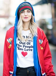 The strongest message at fashion week this season was political and powerful.... - Street Style