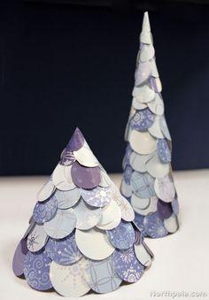 Wintery Paper Trees – Elf Blog