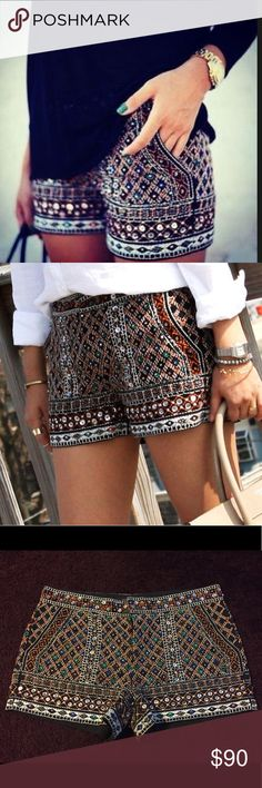 Zara beaded shorts Beautiful Zara beaded shorts. Size XL /32 as pictured. In excellent condition. Zara Shorts