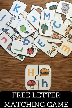 Letter Matching Game, Letter Games, Matching Games, Preschool Literacy, Kindergarten Reading, Literacy Activities, Literacy Centers, Teaching Resources, Cognitive Activities