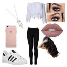 """""""Untitled #393"""" by glamor234 on Polyvore featuring Wolford, adidas Originals, Lucky Brand and Lime Crime"""