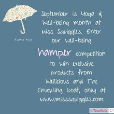 Win a luxury wellbeing hamper filled with beauty & Yoga products worth over £100 with Miss Squiggles