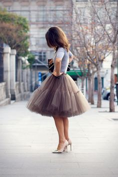 So delicate - love this tulle skirt $75.00, via Etsy.