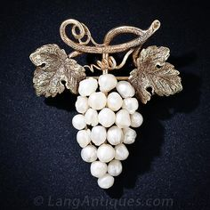 Antique Grape Cluster Brooch - 50-1-4111 - Lang Antiques