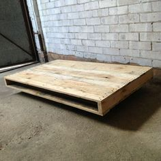 Large Coffee Table On Wheels In A Whitewash Finish
