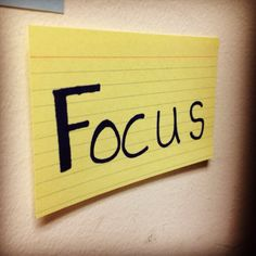 What is the word of the day?  Focus!  It's all about you and your Success at www.osiRockStars.... Choose Success today.