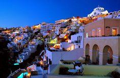 beautiful, greece, hill, houses, santorinifavim.com