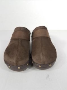 f4ebd7b950f Crocs Womens Cobbler Studded Brown Suede Clogs  Mules Size 9  fashion   clothing  shoes  accessories  womensshoes  flats