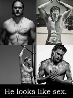 My first thought when I see shirtless Charlie Hunnam!