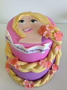 - Rapunzel cake designed by Veronica Arthur. Please like my page, With Love & Confection ~ A Sweet Boutique (Easley, South Carolina, USA) on facebook! Thank you! https://www.facebook.com/pages/With-Love-Confection/457523395088?ref=tn_tnmn