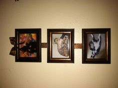 DIY photo frame trio!!!