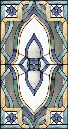 Traditional 0-19A Faux Privacy Stained Glass Clings and Window Films