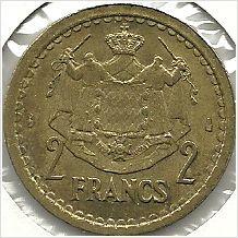 Monaco ND (1945) Two Francs coin Unc