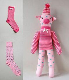 poupée chaussette