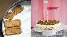 Lotus biscuits, heavy cream and pecans cake Lotus Biscuits, Pecan Cake, Sweet Desserts, Tiramisu, Cheesecake, Cereal, Sweet Tooth, Ice Cream, Sweets