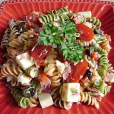 #recipe #food #cooking Pasta Salad with Homemade Dressing